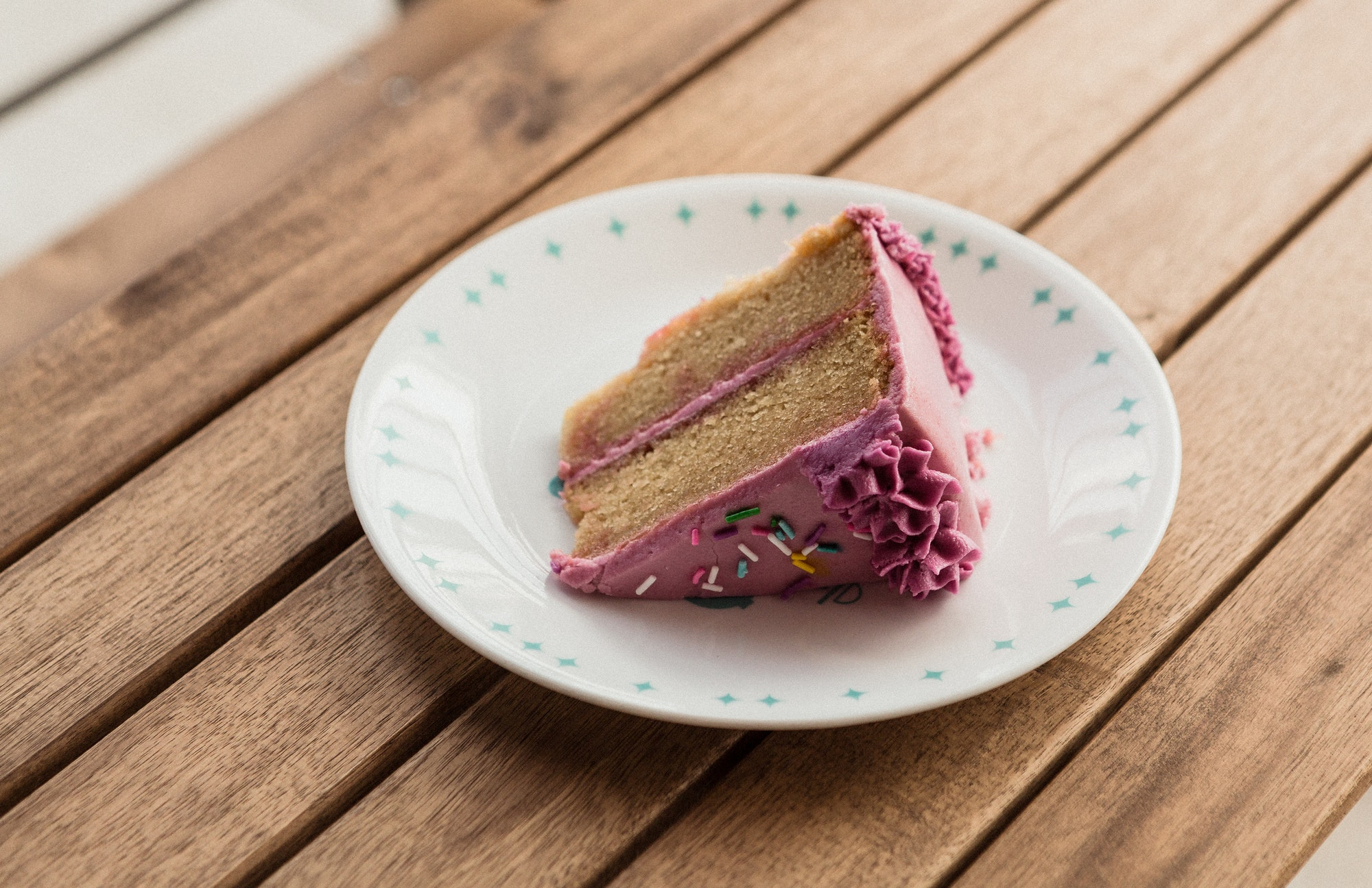 A Slice of Cake on a Table