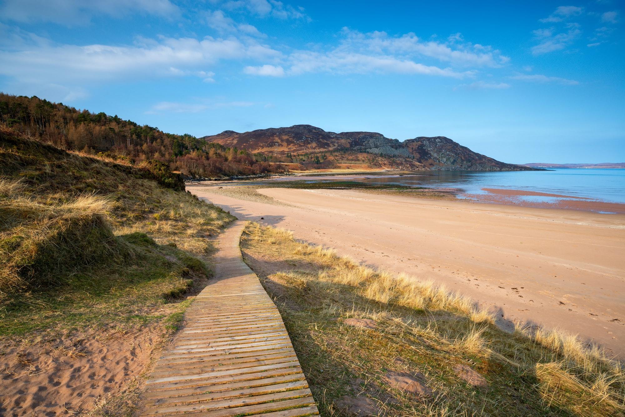 Gruinard Beach in Scotland