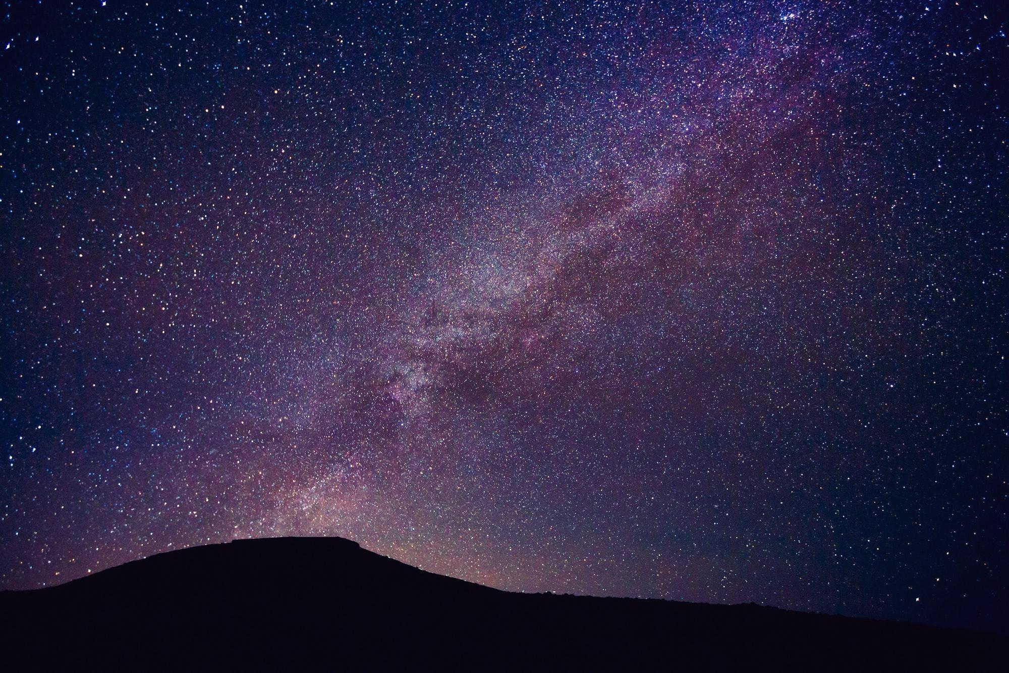 Night Sky with Stars and Galaxy
